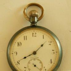 Relojes de bolsillo: WALTHAM AMERICANO MECANICO HIERRO ESFERA BIEN. Lote 175864624