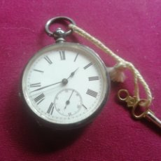 Relojes de bolsillo: RELOJ DE PLATA EN FUNCIONAMIENTO. Lote 175886337