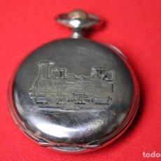 Relojes de bolsillo: RELOJ DE BOLSILLO --FERROVIARIO -- GRANDE 70 MM, FUNCIONANDO AJUSTADO. Lote 175909847