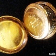 Relojes de bolsillo: RARO RELOJ SUIZO DE BOLSILLO J.M. BADOLLET GENEVA EN ORO CON 3 TAPAS,CRISTAL,GUARDAPELOS Y MAQUINA .. Lote 175927755