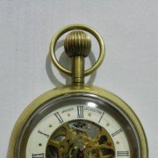 Relojes de bolsillo: RELOJ DE BOLSILLO, JAEGER LECOULTRE - SWISS MADE, DIAMETRO 5 CM, FUNCIONA. Lote 175996792