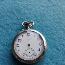 Relojes de bolsillo: RELOJ DE BOLSILLO ANTIGUO MARCA JUD. CAJA DE METAL LABRADA.. Lote 175997433