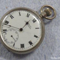 Relojes de bolsillo: BONITO RELOJ DE BOLSILLO SUIZO DE LA MARCA POMROY COMPLETO DE PLATA LABRADA, FUNCIONANDO, DATA 1900. Lote 176166760