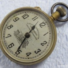 Relojes de bolsillo: BONITO RELOJ DE BOLSILLO ROSKOPF PARA FERROVIARIO CAJA LABRADA, FUNCIONANDO, DATA DEL 1900. Lote 176167948