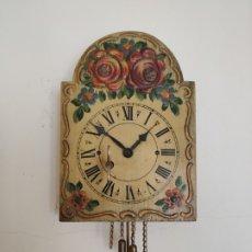 Relojes de bolsillo: RELOJ RATERA DE PARED CARGA MANUAL . FUNCIONA. 14 X 10 CM. Lote 176180822