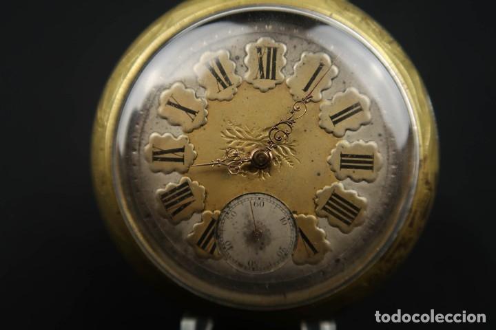 Relojes de bolsillo: Reloj de bolsillo Regulateur de grandes dimensiones para Ferroviarios Francia - Foto 2 - 176203834