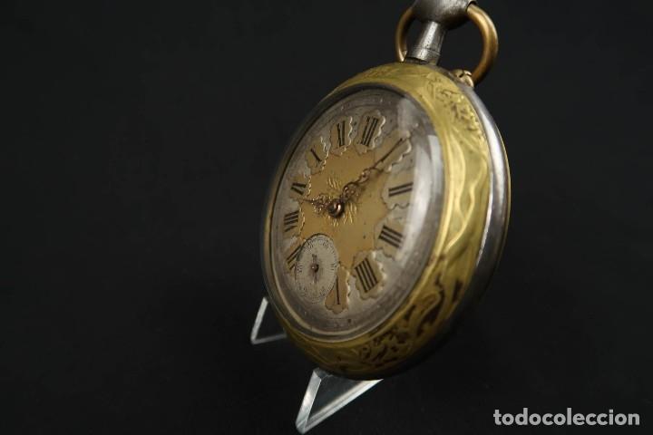 Relojes de bolsillo: Reloj de bolsillo Regulateur de grandes dimensiones para Ferroviarios Francia - Foto 4 - 176203834