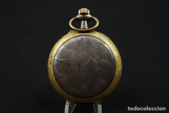 Relojes de bolsillo: Reloj de bolsillo Regulateur de grandes dimensiones para Ferroviarios Francia - Foto 6 - 176203834