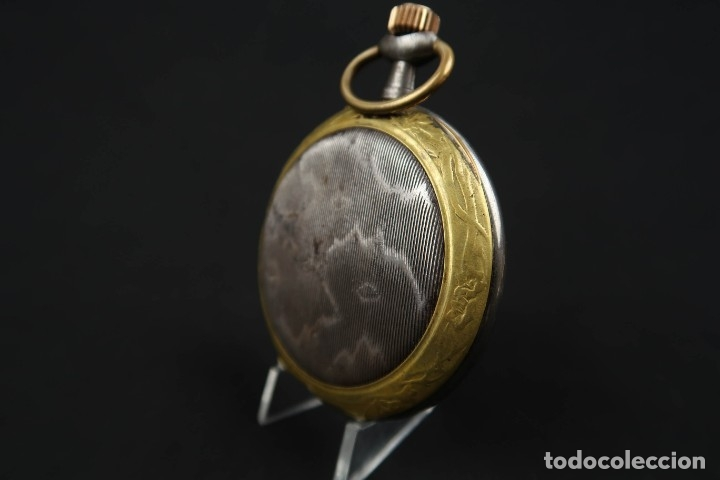 Relojes de bolsillo: Reloj de bolsillo Regulateur de grandes dimensiones para Ferroviarios Francia - Foto 7 - 176203834