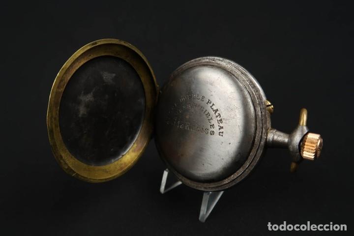 Relojes de bolsillo: Reloj de bolsillo Regulateur de grandes dimensiones para Ferroviarios Francia - Foto 10 - 176203834