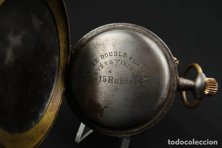 Relojes de bolsillo: Reloj de bolsillo Regulateur de grandes dimensiones para Ferroviarios Francia - Foto 11 - 176203834