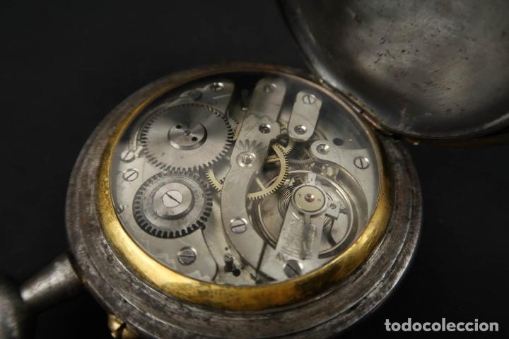 Relojes de bolsillo: Reloj de bolsillo Regulateur de grandes dimensiones para Ferroviarios Francia - Foto 13 - 176203834