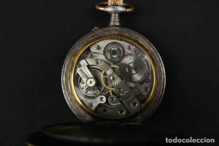 Relojes de bolsillo: Reloj de bolsillo Regulateur de grandes dimensiones para Ferroviarios Francia - Foto 14 - 176203834