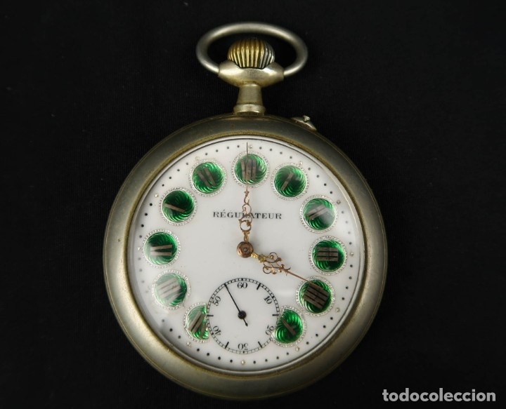RELOJ DE BOLSILLO REGULATEUR DE GRANDES DIMENSIONES PARA FERROVIARIOS FRANCIA (Relojes - Bolsillo Carga Manual)