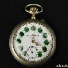 Relojes de bolsillo: RELOJ DE BOLSILLO REGULATEUR DE GRANDES DIMENSIONES PARA FERROVIARIOS FRANCIA. Lote 176203977