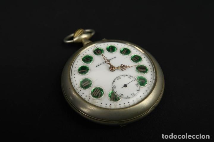 Relojes de bolsillo: Reloj de bolsillo Regulateur de grandes dimensiones para Ferroviarios Francia - Foto 2 - 176203977