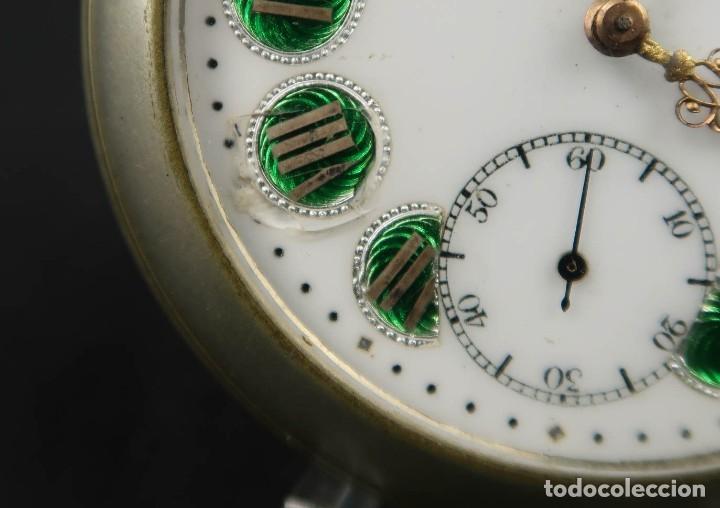 Relojes de bolsillo: Reloj de bolsillo Regulateur de grandes dimensiones para Ferroviarios Francia - Foto 4 - 176203977