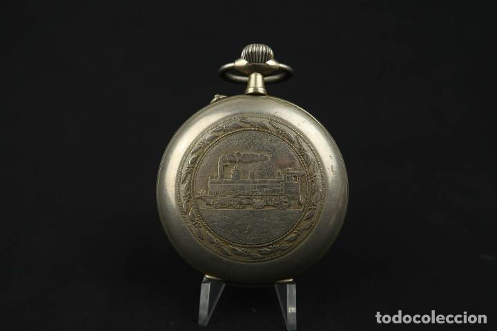 Relojes de bolsillo: Reloj de bolsillo Regulateur de grandes dimensiones para Ferroviarios Francia - Foto 9 - 176203977