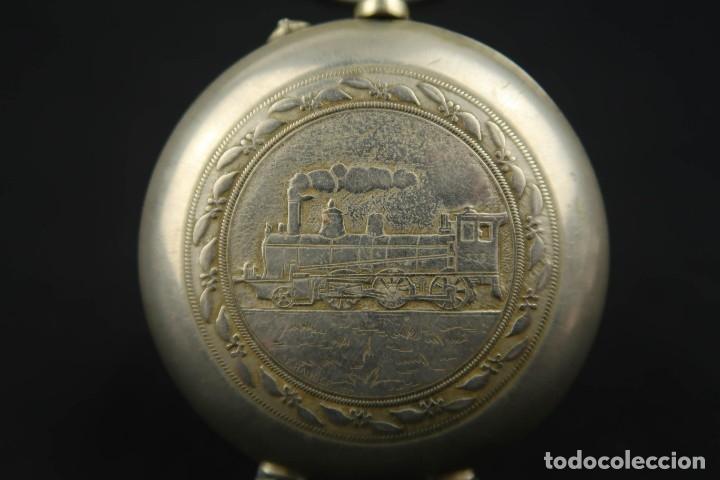 Relojes de bolsillo: Reloj de bolsillo Regulateur de grandes dimensiones para Ferroviarios Francia - Foto 10 - 176203977