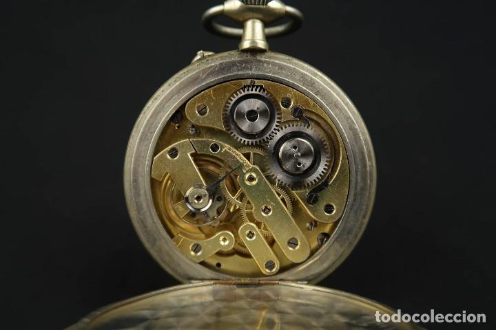 Relojes de bolsillo: Reloj de bolsillo Regulateur de grandes dimensiones para Ferroviarios Francia - Foto 12 - 176203977