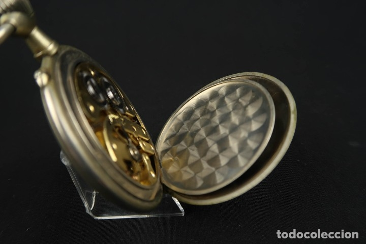 Relojes de bolsillo: Reloj de bolsillo Regulateur de grandes dimensiones para Ferroviarios Francia - Foto 14 - 176203977