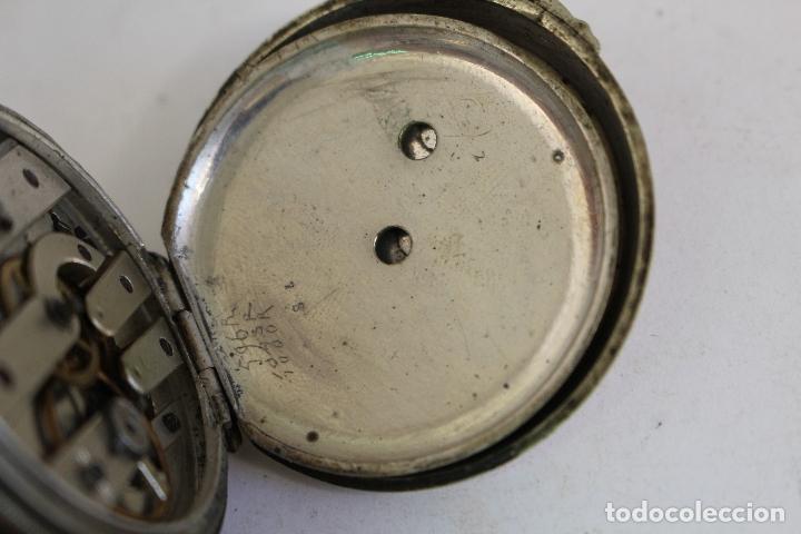 Relojes de bolsillo: reloj de bolsillo antiguo cylindre en plata de ley - Foto 2 - 176233339