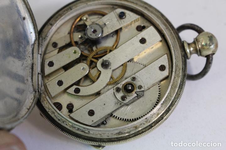 Relojes de bolsillo: reloj de bolsillo antiguo cylindre en plata de ley - Foto 3 - 176233339