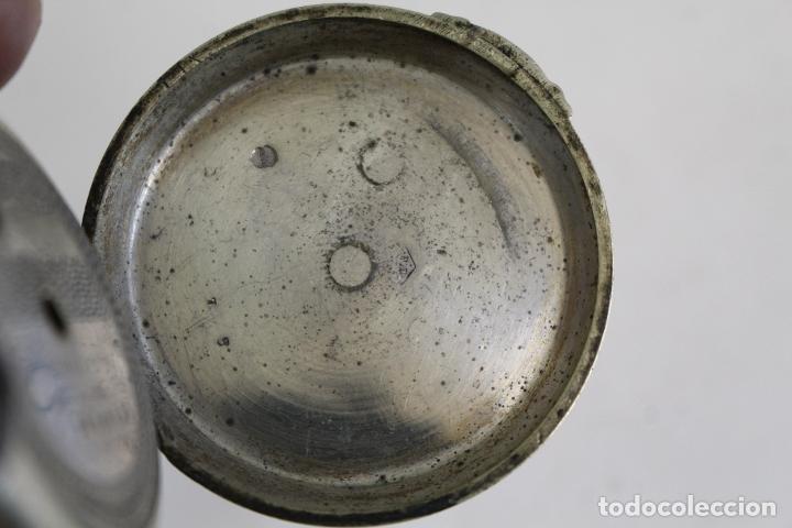 Relojes de bolsillo: reloj de bolsillo antiguo cylindre en plata de ley - Foto 4 - 176233339