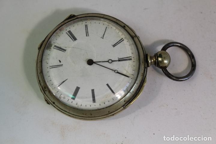 Relojes de bolsillo: reloj de bolsillo antiguo cylindre en plata de ley - Foto 6 - 176233339