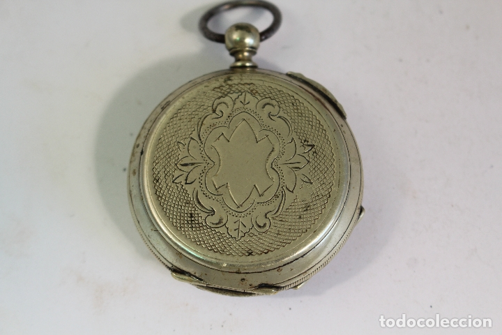 Relojes de bolsillo: reloj de bolsillo antiguo cylindre en plata de ley - Foto 8 - 176233339