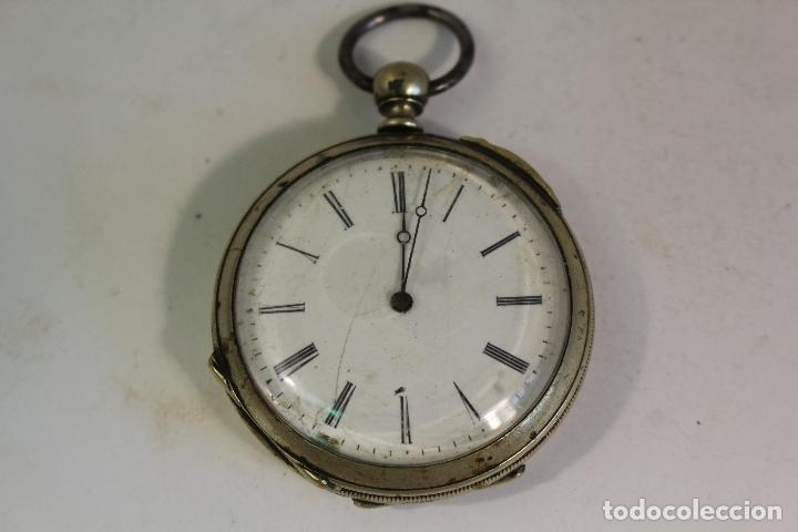 RELOJ DE BOLSILLO ANTIGUO CYLINDRE EN PLATA DE LEY (Relojes - Bolsillo Carga Manual)