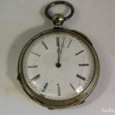 Relojes de bolsillo: RELOJ DE BOLSILLO ANTIGUO CYLINDRE EN PLATA DE LEY. Lote 176233339