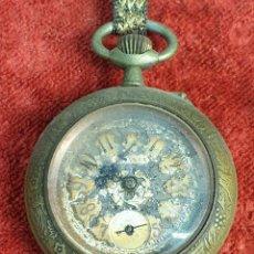 Relojes de bolsillo: RELOJ DE BOLSILLO URANIA. CAJA DE METAL LABRADO. TIPO LEPINE. SIGLO XX. . Lote 176320955
