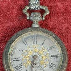 Relojes de bolsillo: RELOJ DE BOLSILLO. TIPO LEPINE. MAQUINARIA A LA VISTA. CAJA DE METAL. SIGLO XX. . Lote 176325358
