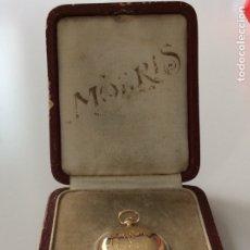 Relojes de bolsillo: ANTIGUO RELOJ MOERIS DE ORO DE 18K CON SU CAJA ORIGINAL. Lote 176337903