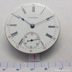 Relojes de bolsillo: MAQUINARIA ANTIGUA, RELOJ DE BOLSILLO WALTHAM.-1.907, ( 112 AÑOS ). Lote 176530629