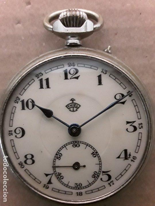 RELOJ DE BOLSILLO ANTIGUO,THIEL (Relojes - Bolsillo Carga Manual)