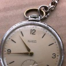 Relojes de bolsillo: RELOJ DE BOLSILLO ANTIGUO,TORMAS,15 RUBIS. Lote 176781253