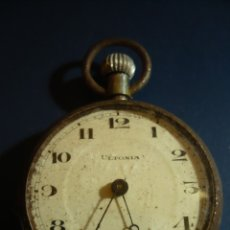 Relojes de bolsillo: RELOJ CUERDA MANUAL BOLSILLO ULTONIA SWISS MADE AÑOS 30-40 FUNCIONA. Lote 176783079