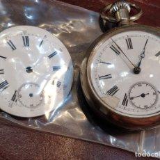 Relojes de bolsillo: RELOJ DE BOLSILLO CYLINDRE 4 RUBÍS CON ESFERA DE RECAMBIO - FUNCIONANDO. Lote 176819007