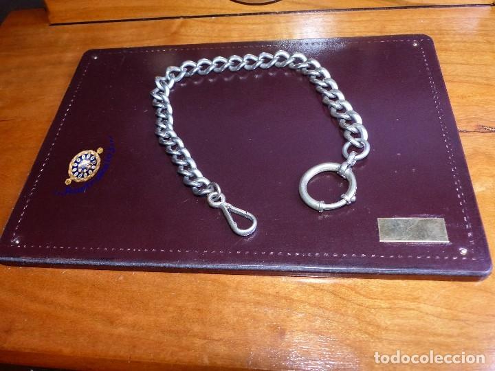 CADENA DE PLATA, RELOJ DE BOLSILLO (Relojes - Bolsillo Carga Manual)