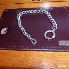 Relojes de bolsillo: CADENA DE PLATA, RELOJ DE BOLSILLO. Lote 176872220