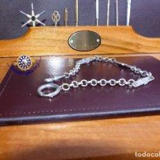 Relojes de bolsillo: CADENA BAÑO DE PLATA, RELOJ DE BOLSILLO. Lote 176872240