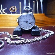 Relojes de bolsillo: SAGUETS LLAVERO DE PLATA Y CADENA CON LLAVE. Lote 176954824