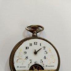 Relojes de bolsillo: RELOJ HEBDOMAS DE 8 DÍAS CUERDA. Lote 176979559