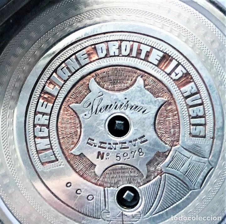 Relojes de bolsillo: Reloj plata de bolsillo Suizo XIX - Foto 6 - 148058678