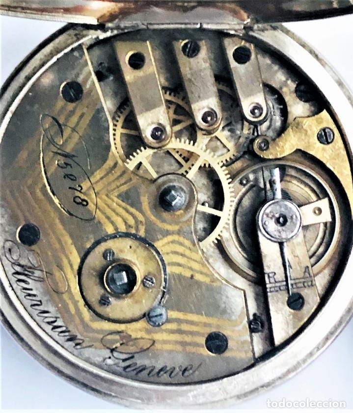 Relojes de bolsillo: Reloj plata de bolsillo Suizo XIX - Foto 7 - 148058678