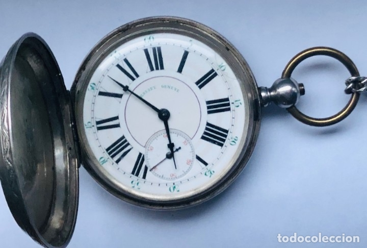 Relojes de bolsillo: Reloj plata de bolsillo Suizo XIX - Foto 3 - 148058678