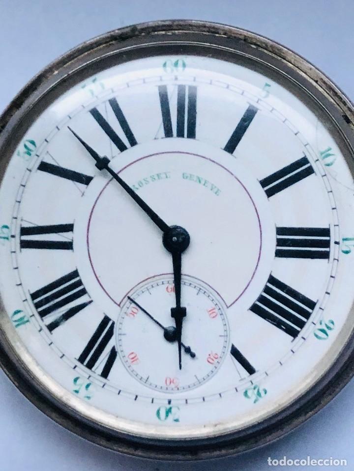Relojes de bolsillo: Reloj plata de bolsillo Suizo XIX - Foto 4 - 148058678