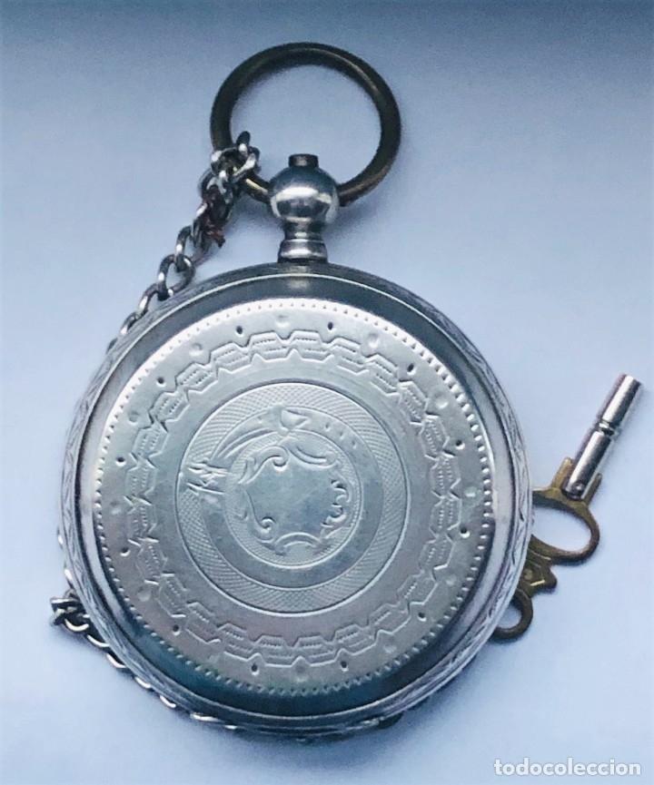 RELOJ PLATA DE BOLSILLO SUIZO XIX (Relojes - Bolsillo Carga Manual)